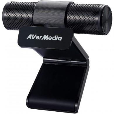 "AverMedia Live Streamer CAM 313 - PW313: USB 2.0 FHD Webcam, Image sensor: 1/2.7"" CMOS sensor, 2MP, Video mode: MJPEG and YUY2, Fixed Focus, Privacy Shutter, 360-degree swivel, Cable length: 1.5m"