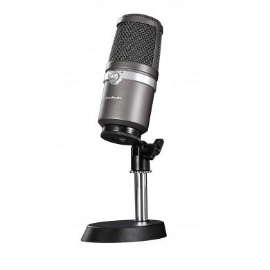 AverMedia USB Microphone - AM310: Uni-directional condenser microphone, Polar pattern: Cardioid, Sample/Bit rate: 48KHz/16bit, Sensitivity: -60 ± 5 dB, Frequency response: 20Hz ~ 20kHz, USB 2.0 Plug&Play