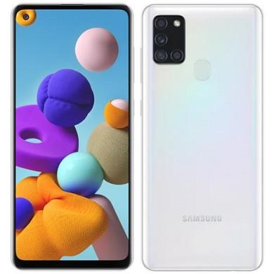 """Samsung Galaxy A21s UK 64GB White, DualSIM, 6.5"""" 720x1600 PLS, Exynos 850, Octa-Core 2.0GHz, 4GB RAM, Mali-G52, microSD (dedicated slot), 48MP+8MP+2MP+2MP/13MP, USB-C, 5000mAh, FC, WiFi-AC/BT5.0, Android 10"""