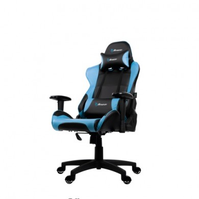 Gaming/Office Chair AROZZI Verona V2, Black/Blue, PU Leather, max weight up to 100-105kg / height 160-180cm, Recline 165°, 1D Armrests, Head and Lumber cushions, Metal Frame, Nylon wheelbase, Gas Lift 4class, Small nylon casters, W-25.5kg