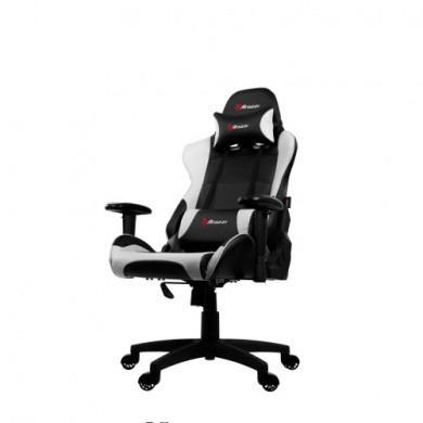 Gaming/Office Chair AROZZI Verona V2, Black/White, PU Leather, max weight up to 100-105kg / height 160-180cm, Recline 165°, 1D Armrests, Head and Lumber cushions, Metal Frame, Nylon wheelbase, Gas Lift 4class, Small nylon casters, W-25.5kg