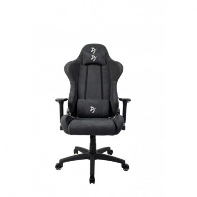 Gaming/Office Chair AROZZI Torretta Soft Fabric, Dark Grey, Soft Fabric, max weight up to 95-100kg / height 160-180cm, Recline 145°, 3D Armrests, Head and Lumber cushions, Metal Frame, Nylon wheelbase, Gas Lift 4class, Small nylon casters, W-26.5kg