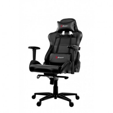 Gaming/Office Chair AROZZI Verona XL+, Black/Black, PU Leather, max weight up to 150-160kg / height 170-200cm, Recline 165°, 1D Armrests, Head and Lumber cushions, Metal Frame, Aluminium wheelbase, Gas Lift 4class, Small nylon casters, W-30kg