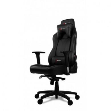 Gaming/Office Chair AROZZI Vernazza, Black/Black, PU Leather, max weight up to 135-145kg / height 165-190cm, Recline 165°, 3D Armrests, Head and Lumber cushions, Metal Frame, Nylon wheelbase, Gas Lift 4class, Large  nylon casters, W-28.5kg