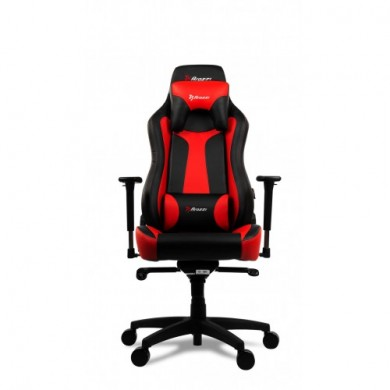 Gaming/Office Chair AROZZI Vernazza, Black/Red, PU Leather, max weight up to 135-145kg / height 165-190cm, Recline 165°, 3D Armrests, Head and Lumber cushions, Metal Frame, Nylon wheelbase, Gas Lift 4class, Large  nylon casters, W-28.5kg