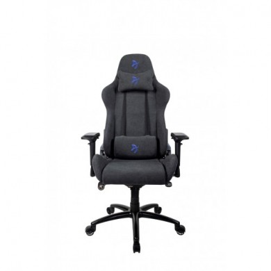 Gaming/Office Chair AROZZI Verona Signature Soft Fabric, Black /Blue logo, Soft Fabric, max weight up to 120-130kg / height 165-190cm, Recline 165°, 4D Armrests, Head and Lumber cushions, Metal Frame, Nylon wheelbase, Small casters, W-28.3kg