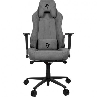 Gaming/Office Chair AROZZI Vernazza Soft Fabric, Ash Grey, Soft Fabric, max weight up to 135-145kg / height 165-190cm, Recline 165°, 3D Armrests, Head and Lumber cushions, Metal Frame, Aluminium wheelbase, Large  nylon casters, W-28.5kg