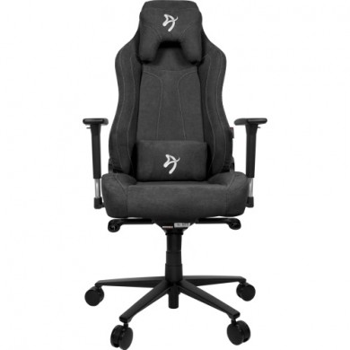 Gaming/Office Chair AROZZI Vernazza Soft Fabric, Dark Grey, Soft Fabric, max weight up to 135-145kg / height 165-190cm, Recline 165°, 3D Armrests, Head and Lumber cushions, Metal Frame, Aluminium wheelbase, Large  nylon casters, W-28.5kg