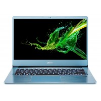 "ACER Swift 3 Glacier Blue (NX.HFEEU.017), 14.0"" IPS FHD (AMD Ryzen 5 3500U 4xCore, 2.1-3.7GHz, 8GB (2x4) LPDDR4 RAM, 256GB PCIe NVMe SSD+HDD Kit, Radeon Vega 8 Graphics, WiFi-AC/BT, FPR, Backlit KB, 3cell, HD Webcam, RUS, No OS, 1.5kg, 17.95mm)"