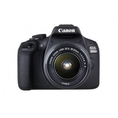 DSLR Camera CANON EOS 2000D 18-55 DC III Black (2728C007)