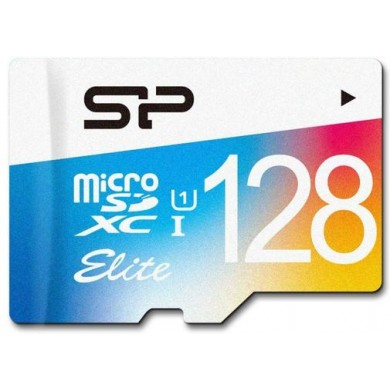 128GB microSD Class10 A1 UHS-I + SD adapter  Silicon Power Elite microSDXC, 600x, Up to: 85MB/s