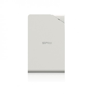 """2.5"""" External HDD 2.0TB (USB3.1)  Silicon Power Stream S03, White, Stylish, SMatte surface treatment resists fingerprints and scratches"""