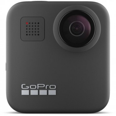 Action Camera GoPro MAX 360 footage, Photo-Video Resolutions:16.6MP/30FPS-5.6K30, 2xslow-motion, waterproof 5m,6x microphones Spherical audio, Max hyper smooth video, Live streaming,Time Lapse,PowerPano,GPS,Wi-Fi,Bluetooth,microSD,USB-C, 1600mAh,154g