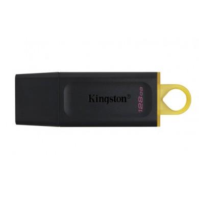 128GB USB3.2  Kingston DataTraveler Exodia Black/Yellow, (Read 100 MByte/s, Write 12 MByte/s)