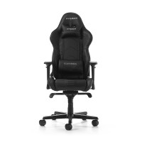 Gaming/Office Chair DXRacer Racing GC-R131-N-V2, Black/Black, Premium PU leather, max weight up to 150kg / height 165-195cm, Recline 90°-135°, 4D Armrests, Head and Lumber cushions, Aluminium wheelbase, 3