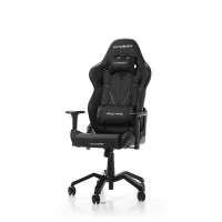Gaming/Office Chair DXRacer Valkyrie GC-V03-N-B2, Black/Black, Premium PU leather + Perforated & Carbon look PVC, max weight up to 150kg / height 165-195cm, Recline 90°-135°, 3D Armrests, Head&Lumbar Cushions, Aluminium Spider, 3
