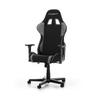 Gaming/Office Chair DXRacer Formula GC-F11-NG-H1, Black/Grey, Premium Fabric + PU leather, max weight up to 150kg / height 145-180cm, Recline 90°-135°, 3D Armrests, Head and Lumber cushions, Aluminium wheelbase, 2