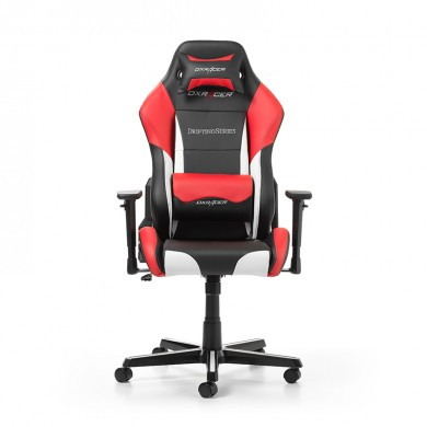 Fotoliu Gaming DXRacer Drifting GC-D61-NWR-M3 / 150kg / 145-175cm / Black/White/Red
