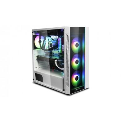 Carcasa DEEPCOOL MATREXX 55 V3 ADD-RGB WH / w/oPSU / Side panel / RGB lighting strip / ATX / White