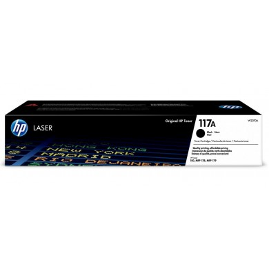 HP 117A Black Original Toner Cartridge, 1pcs, Black, 1000 pages for HP Color Laser 150a/150nw/178nw/179fnw