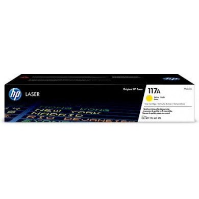 HP 117A Yellow Original Toner Cartridge, 1pcs, Black, 1000 pages for HP Color Laser 150a/150nw/178nw/179fnw