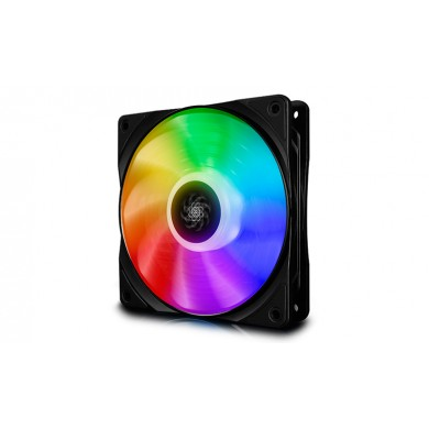 "120mm Case Fan - DEEPCOOL ""CF120 ""  1x  A-RGB LED 120x120x26.5mm, 500-1800rpm, <28dBa, 52.5 CFM, Hydro Bearing, 4Pin, PWM, 12V RGB 4-pin port"