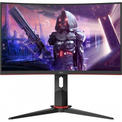 "23.8"" AOC VA LED C24G2U/BK Curved Borderless Black/Red (1ms, 1000:1, 250cd, 1920x1080, 178°/178°, Refresh Rate 165Hz, AMD Free-Sync Premium, Curvature 1500R, VGA, HDMIx2, DisplayPort, USB Hub: 4 x USB3.0, Speakers 2 x 2W, Audio Line-out, VESA)"