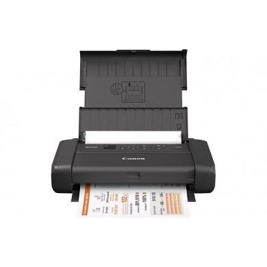"Printer Canon Pixma Mobile TR150 W/BAT Black,  A4, Print 4800x1200dpi_2pl, ESAT 9.0/5.5 ipm,64-05г/м2, OLED 1,44"", Battery 330p, Cassette: 50 sheets, USB 2.0, Wi-Fi, Apple AirPrint, Ink Cartridges PGI-35: 200p, CLI-36: 260p"