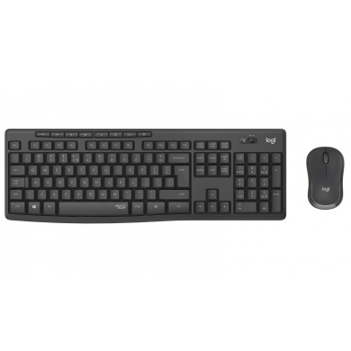 Logitech Wireless Combo MK295 Silent, Multimedia Keyboard & Mouse, Graphite, RUS, USB, Retail