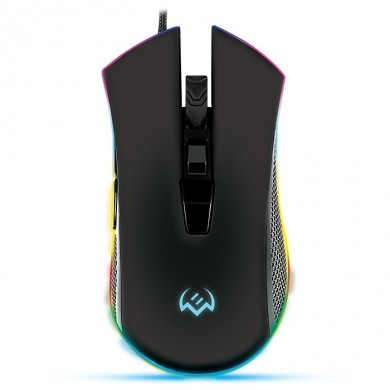 SVEN RX-G750 RGB Gaming, Optical Mouse, 500-6400 dpi, 5+1 buttons (scroll wheel),  DPI switching modes, USB
