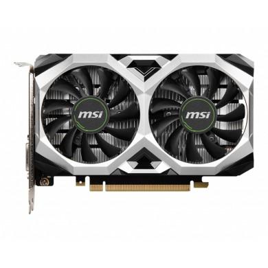 MSI GeForce GTX 1650 D6 VENTUS XS 4G OCV1 /  4GB GDDR6 128Bit 1620/12000Mhz, DVI-D, HDMI, DisplayPort, Dual fan - Customized Design, TORX Fan2.0, Gaming App, Retail