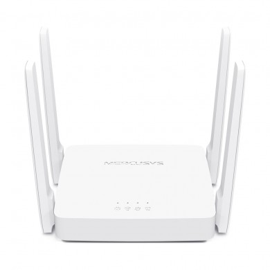 MERCUSYS AC10  AC1200 Dual Band Wireless Router, 867Mbps at 5Ghz + 300Mbps at 2.4Ghz, 802.11ac/a/b/g/n, 1 WAN + 2 LAN, 4 external antennas