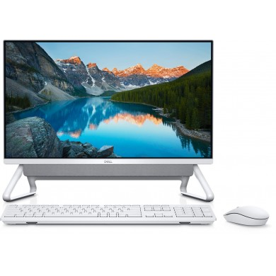 "All-in-One PC - 23.8"" DELL Inspiron 5400 FHD IPS Infinity Non-Touch (Intel® Core® i5-1135G7, 8GB (1х8) DDR4, 256GB M.2 PCIe NVMe + 1TB HDD, NVIDIA® GeForce® MX330 2GB GDDR5 , HD Webcam, WiFi 6 2х2 + BT, KM636 Wireless KB+MS, Win 10 Pro, Silver/White)"