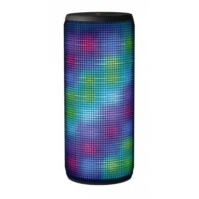 Trust Dixxo Bluetooth Wireless Speaker, Stereo sound (10W RMS / 20W peak), Multi-colour 360-degree LED light show, Bluetooth, 3.5mm aux input, micro-SD or USB