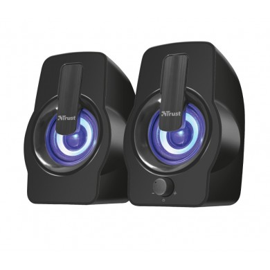 Trust Gemi RGB 2.0 Speaker Set, 12W, LED illumination with automated colour cycle, Black