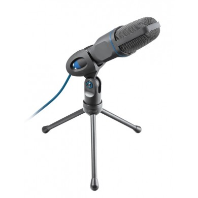 Trust Mico USB Microphone for PC and laptop,USB microphone on tripod stand that works with 3.5 mm and USB connections, 1,8m