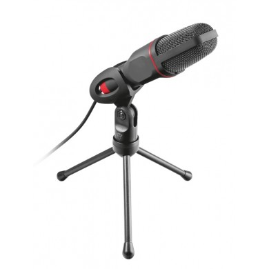 Trust Gaming GXT 212 Mico USB Microphone, High performance, USB microphone on tripod stand that works with 3.5 mm and USB connections,1.8m