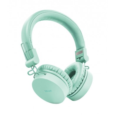 Trust Tones Bluetooth Wireless Headphones, 40mm drivers, 25 hours playtime on a single charge, included 3.5mm cable, Turquoise