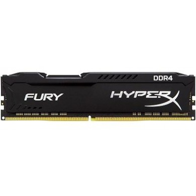 16GB DDR4-2666  Kingston HyperX® FURY DDR4, PC21300, CL16, 1.2V,  1Rx8, Auto-overclocking, Asymmetric BLACK heat spreader, Intel XMP Ready (Extreme Memory Profiles)