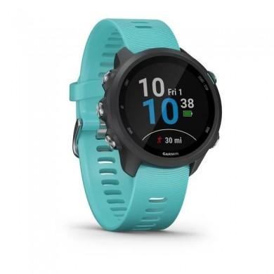 GARMIN Forerunner 245, Music  Aqua, Music Storage Bluetooth, ANT+ ,Activity Tracker, Timer, Stopwatch, Smart notificatiions, GPS, Compass, Accelerometer, Pulse Ox, 38.5 g
