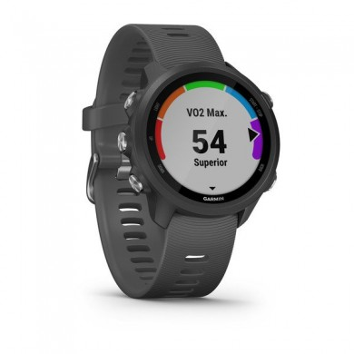GARMIN Forerunner 245, Grey, Bluetooth,  ANT+ , Activity Tracker, Timer, Stopwatch, Smart notificatiions, GPS, Compass,  Accelerometer, Pulse Ox, 38.5 g