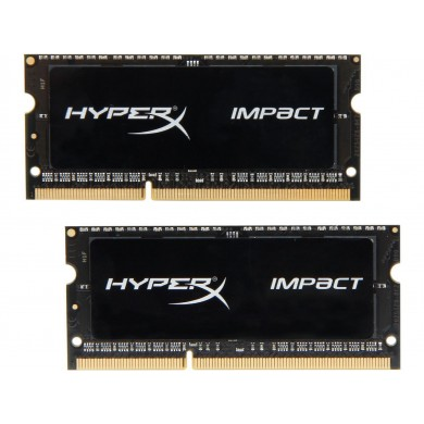 16GB (Kit of 2*8GB) DDR3L-1866 SODIMM  Kingston HyperX® Impact, (Dual Channel Kit), PC14900, CL11, 2Rx8, 1.35V / 1.5V