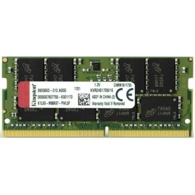 16GB DDR4-2666 SODIMM  Kingston ValueRam, PC21300, CL19, 1Rx8, 1.2V