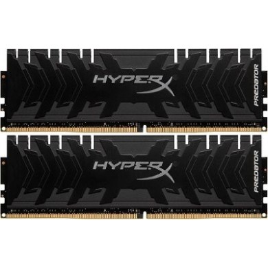 16GB (Kit of 2*8GB) DDR4-4000  Kingston HyperX® Predator DDR4, PC32000, CL19, 1.35V,  BLACK heat spreader, Intel XMP Ready (Extreme Memory Profiles)