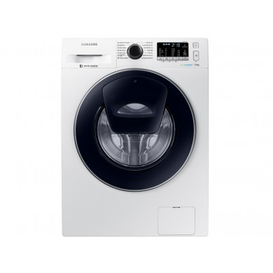 Washer Samsung WW70R62LATWDLP, White/Blue, Max load - 7kg, Maxi speed - 1200rpm, 85x60x45cm, Depth - 45cm, Steam/ AquaProtect/EcoBubble/Smart Check, Download Type - front, Class - A/A/B, Sensor Display, 8 programm