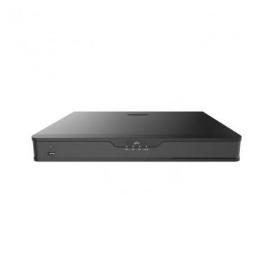 UNV NVR302-16S2-P16, 16-ch, 2 SATA interface, 16 PoE, Incoming Bandwidth 160Mbps, Audio 1/1,  8 x 1080P@30 / 4 x 4MP@30 / 2 x 4K@30, 1U, H.265&4K