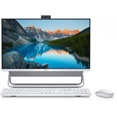"All-in-One PC - 23.8"" DELL Inspiron 5400 FHD IPS Infinity Non-Touch (Intel® Core® i5-1135G7, 8GB (1х8) DDR4, 256GB M.2 PCIe NVMe + 1TB HDD, NVIDIA® GeForce® MX330 2GB GDDR5, HD Webcam, WiFi 6 2x2 + BT, KM636 Wireless KB+MS, Win10Pro, Silver/White)"