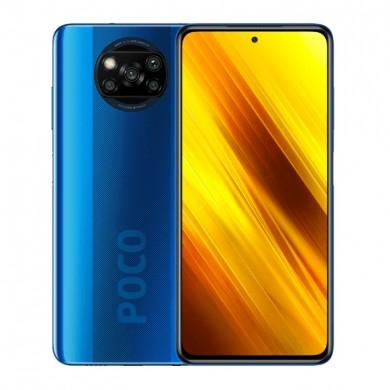 "Xiaomi Poco X3 EU 128GB Blue, DualSIM, 6.67"" 1080x2400 IPS, Snapdragon 732G, Octa-Core 2.3GHz, 6GB RAM, Adreno 618, microSD (uses shared SIM slot), 64MP+13MP+2MP+2MP/20MP, 5160mAh, WiFi-AC/BT5.1, LTE, Android 10 (MIUI12), NFC, Infrared port"