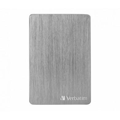 "2.5"" External HDD 2.0TB (USB3.2)  Verbatim Store 'n' Go ALU Slim, Space Grey, Aluminium, Sleek, Slim, Nero Backup Software, Green Button Energy Saving Software"