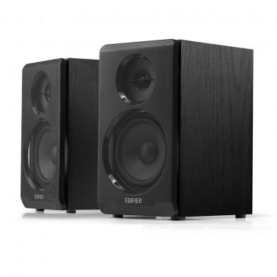 "Edifier R33BT Black, 2.0/ 10W (2x5W) RMS, Audio In: Bluetooth 5.0, AUX, wooden, (3.5""+1/2')"